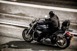 motorcycle rider wearing helmet