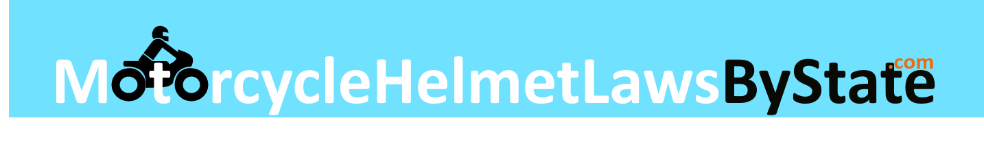 motorcycle helmet laws by state logo
